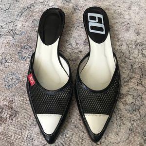 Miss Sixty Black & White Kitten heels